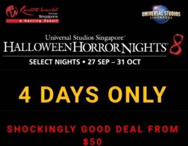 USS Halloween Horror Nights Tickets