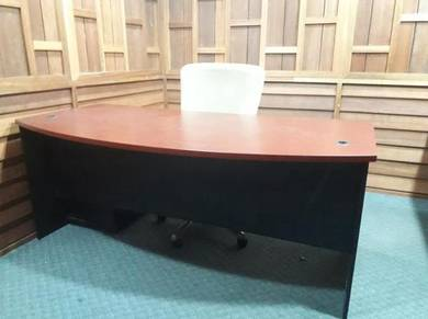 Office table brown wooden