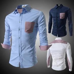 J0585 British White Formal Work Long Sleeve Shirt