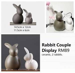 Rabbit Couple Display