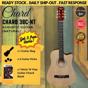 Chard 38C Acoustic Cutaway Guitar 38-inch Natural