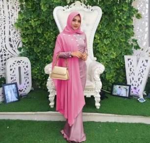 AC princess Duyung maxi dress long sleeve Muslimah