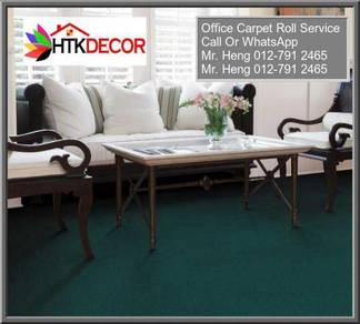 Natural Office Carpet Roll with install QR100