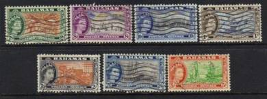 Bahamas 1954-1963 qeii definitives used bj732