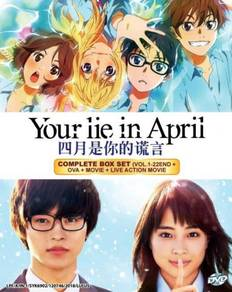 DVD ANIME Your Lie In April Vol.1-22 +OVA+Movie
