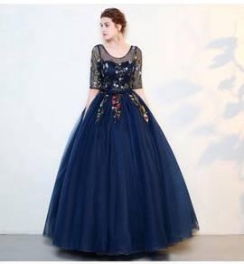 Blue ball wedding bridal prom dress gown RB0668