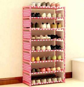 8 layer shoe rack (polkodot )