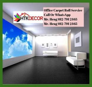 Modern Plain Design Carpet Roll With Install IX46