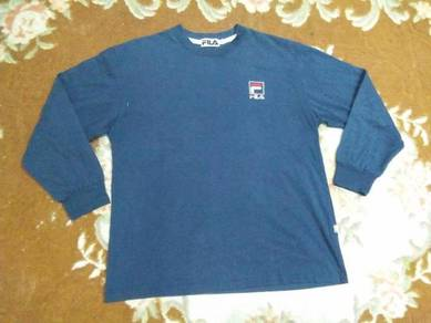FILA T SHIRT embroidered long sleeve size M