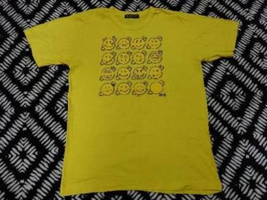 Vintage 24 hour tv japan t shirt size L yellow