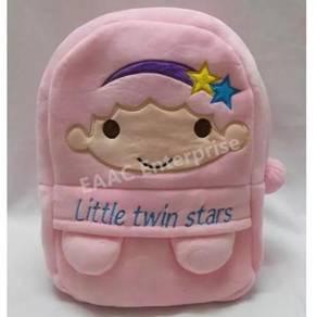 Little Twin Star Backpack School Bag Beg (L) Pink