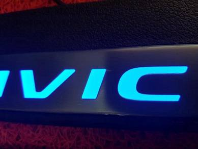 Honda civic fc led scuff kick side sill plate