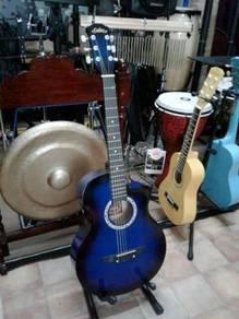 Calao Blue Burst Acoustic Guitar