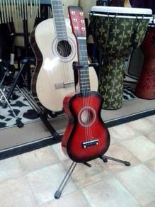 Red Burst Concert Guitarlele
