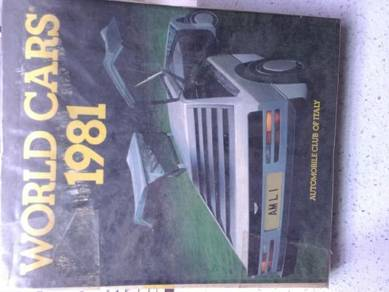 Book:- World Cars 1981. For car lovers