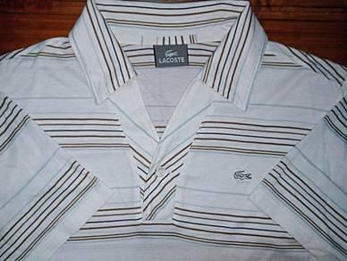 Authentic LACOSTE STRIPED JAPAN SzM Collar Shirts
