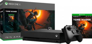Xbox One X 1TB Shadow Of The Tomb Raider Bundle