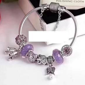 S925 sterling silver Fan Dora bracelet feminine