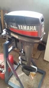 Yamaha Enduro 15HP + Fiber 14kaki siap trailer.