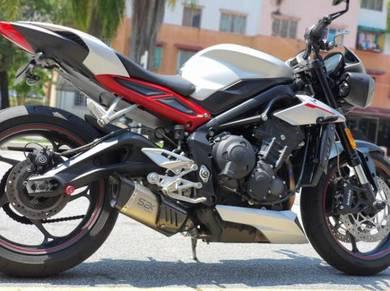 Exhaust Triumph Street Triple 765 SBK R-GP Ekzos