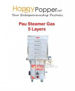 Commercial Pengukus Pau Steamer Gas 5 Layers New