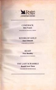 Readers Digest: Condensed Books
