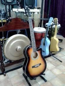 J.Y Sunburst Electric Acoustic Guitar - E120CE