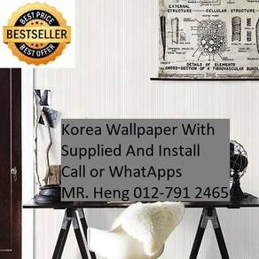 Wall paper Install at Living Space 34y35h