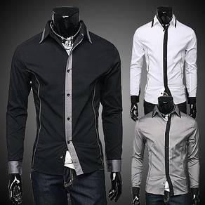 J0538 Extravagant Black Formal Long Sleeve Shirt