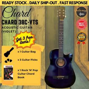 Chard 38C Acoustic Cutaway Guitar 38-inch Violet