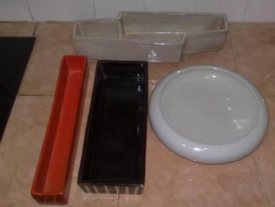 Kotak pasu vintage ceramic planter box vase