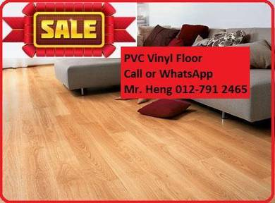 Natural Wood PVC Vinyl Floor - With Install df453