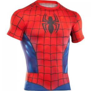 Super Hero Slim Fit Compression Shirt - Spiderman1