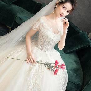 Cream fishtail wedding bridal gown dress RB1196