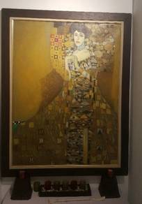 Oil painting on canvas from Bali with frame