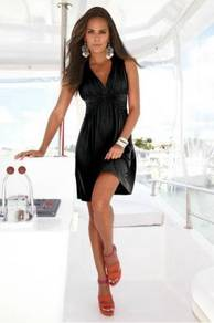CW185 Sexy Deep V Fashion Clubwear Mini Dress