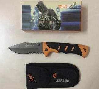 Pisau GERBER ASSASSINS CREED KNIFE ( MADE IN USA )
