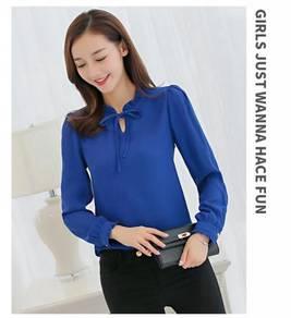 Chiffon Long Sleeve Loose Women Shirt Clothes
