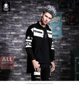 Shirt male long-sleeved Slim Korean thin
