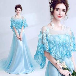 Blue elegant fishtail wedding prom dress RBP0688