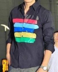J0518 Kemeja Lengan Panjang Hitam Men Formal Shirt