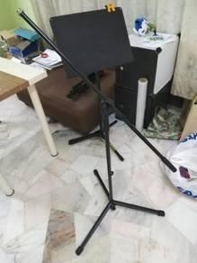 Unused studio mic stand