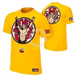 WWE WWF T Shirt (John Cena New Yellow)