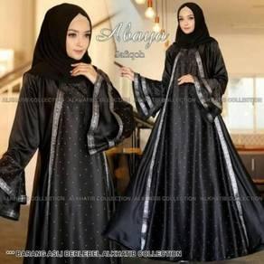 Abaya Safiqoh dress long sleeve Muslimah black