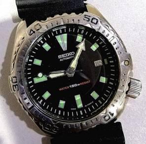 Jam Seiko Scuba Diver steel bezel 42mm 7002 watch