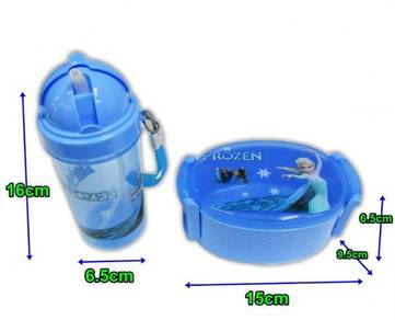 Frozen anna elsa food container straw bottle bag