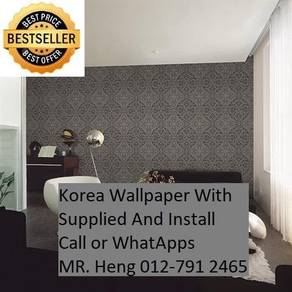 Wall paper Install at Living Space 34h54hj