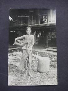 Postcard Girls Malaya 1920 PC 2747