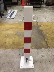 Collapsible steel parking post bollard