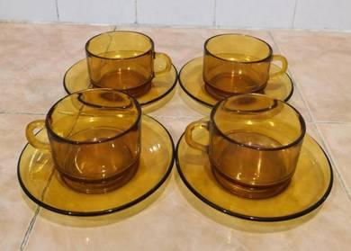 Cawan piring antique retro vereco tea set 4